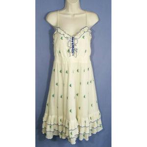 ANTHROPOLOGIE FLOREAT Grasslands Sun Dress 2530E1